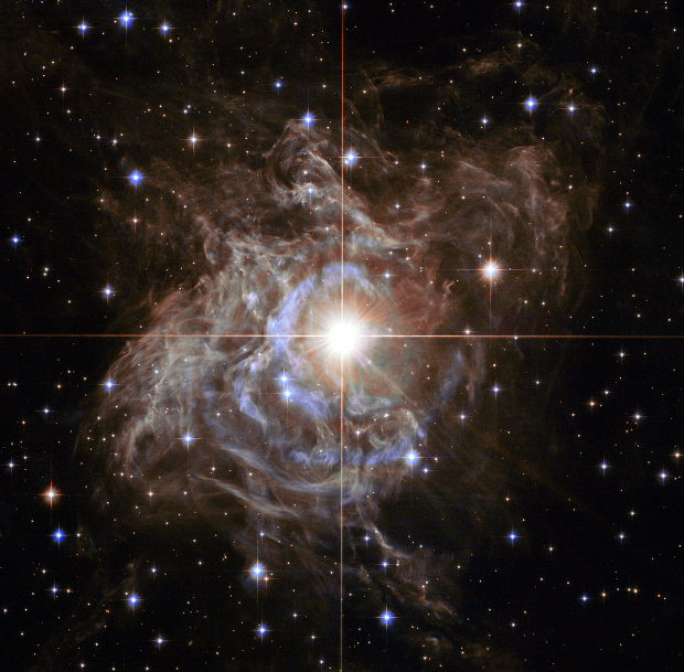 A picture of the Cepheid variable star RS Puppis taken by the Hubble Space Telescope (Image NASA, ESA, and the Hubble Heritage Team (STScI/AURA)-Hubble/Europe Collaboration Acknowledgment: H. Bond (STScI and Penn State University))