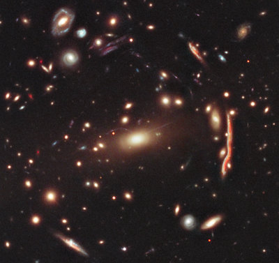MACS J1206.2-0847 galaxy cluster (photo NASA, ESA, M. Postman (STScI), and the CLASH Team)