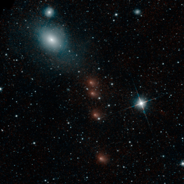 The comet C/2013 A1 Siding Spring observed by the WISE space telescope (Image NASA/JPL-Caltech)