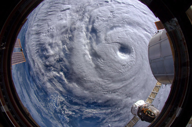Typhoon Neoguri seen from the International Space Station (Photo Alexander Gerst)