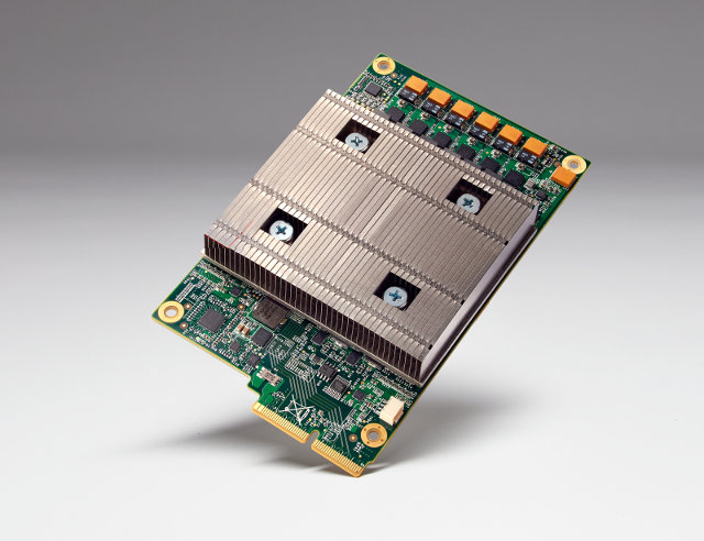 A Tensor Processing Unit board (Photo courtesy Google)