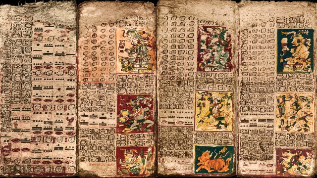 Part of the Venus Table in the Dresden Codex (Image courtesy University of California - Santa Barbara)