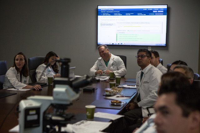 The tumor board at Jupiter Medical Center in Florida (Photo courtesy EPIC Creative)