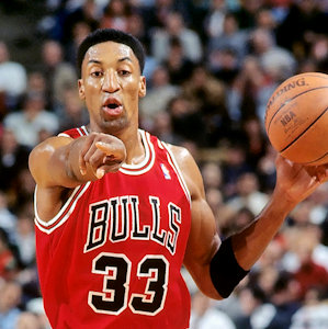 Scottie Pippen with the Chicago Bulls in 1995