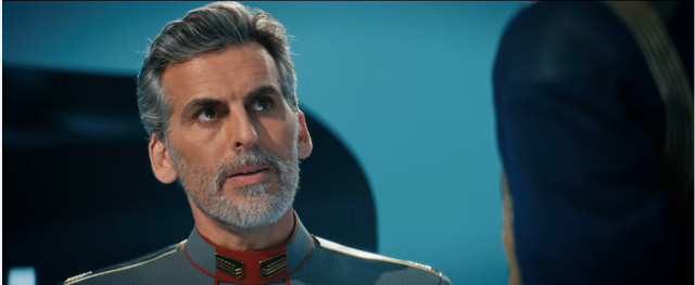 Admiral Charles Vance (Oded Fehr) in Die Trying (Image courtesy CBS / Netflix. All rights reserved)