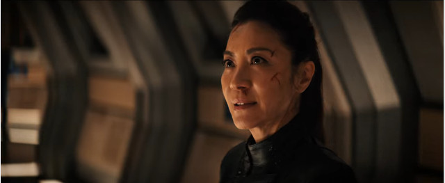 Philippa Georgiou (Michelle Yeoh) in Far From Home (Image courtesy CBS / Netflix. All rights reserved)