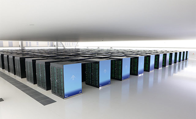 Parts of the Fugaku supercomputer (Photo courtesy RIKEN Center for Computational Science (R-CCS))