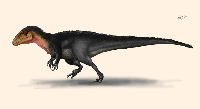 Artist's reconstruction of Lusovenator santosi (Image courtesy Carlos de Miguel Chaves)