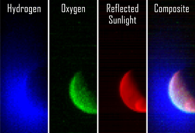 Image of the Mars atmosphere taken by MAVEN's IUVS instrument (Image Laboratory for Atmospheric and Space Physics, University of Colorado; NASA)